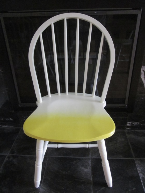 EntriWays.com: White & Lemon Yellow Ombre Chairs