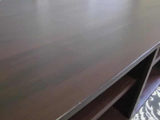 EntriWays.com: TV Cabinet, Black Glaze Over Red Latex Paint
