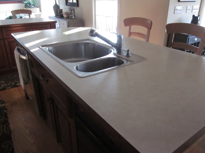 clean sink and counters
