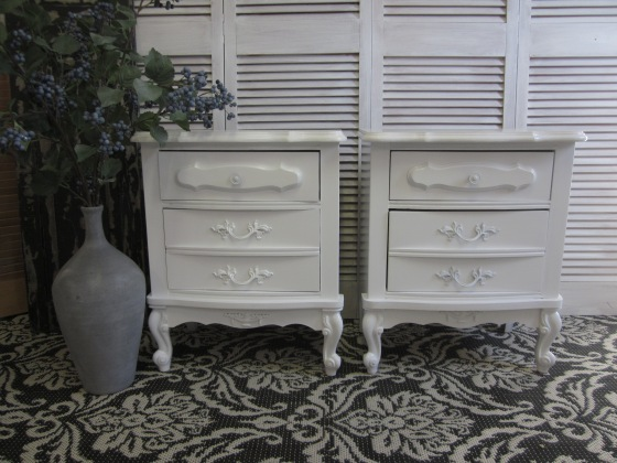 White French Nightstands
