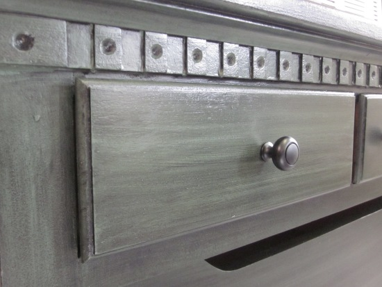 Colonial Sideboard Green Black Glaze 5