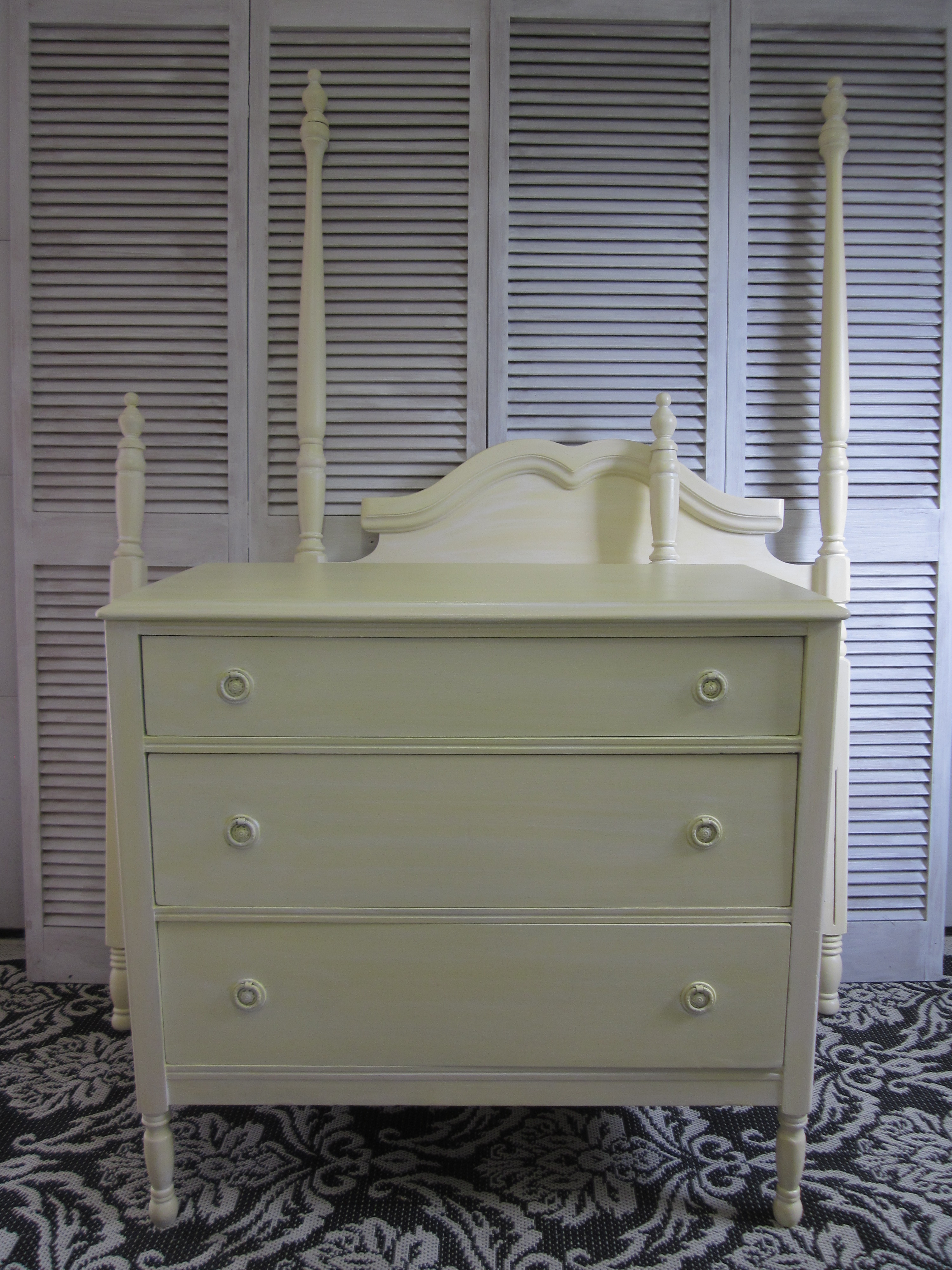 Yellow Antique Dresser 3